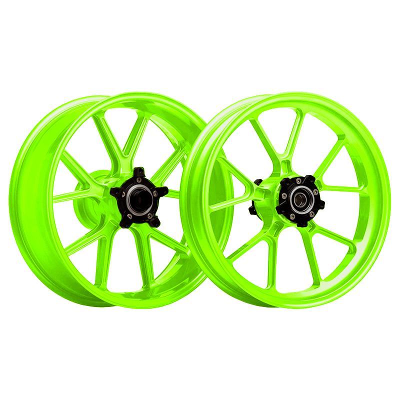 Llanta verde fluor