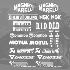 Kits De Pegatinas Patrocinadores Para Moto Gpvinyls
