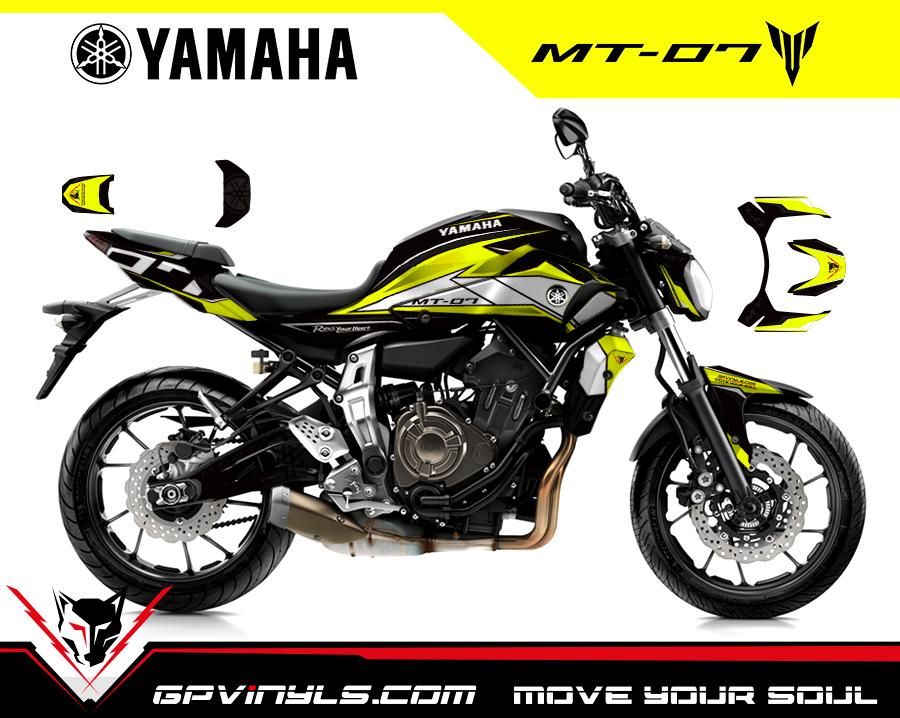 Graphic Decals Yamaha Mt 07 Gpvinyls