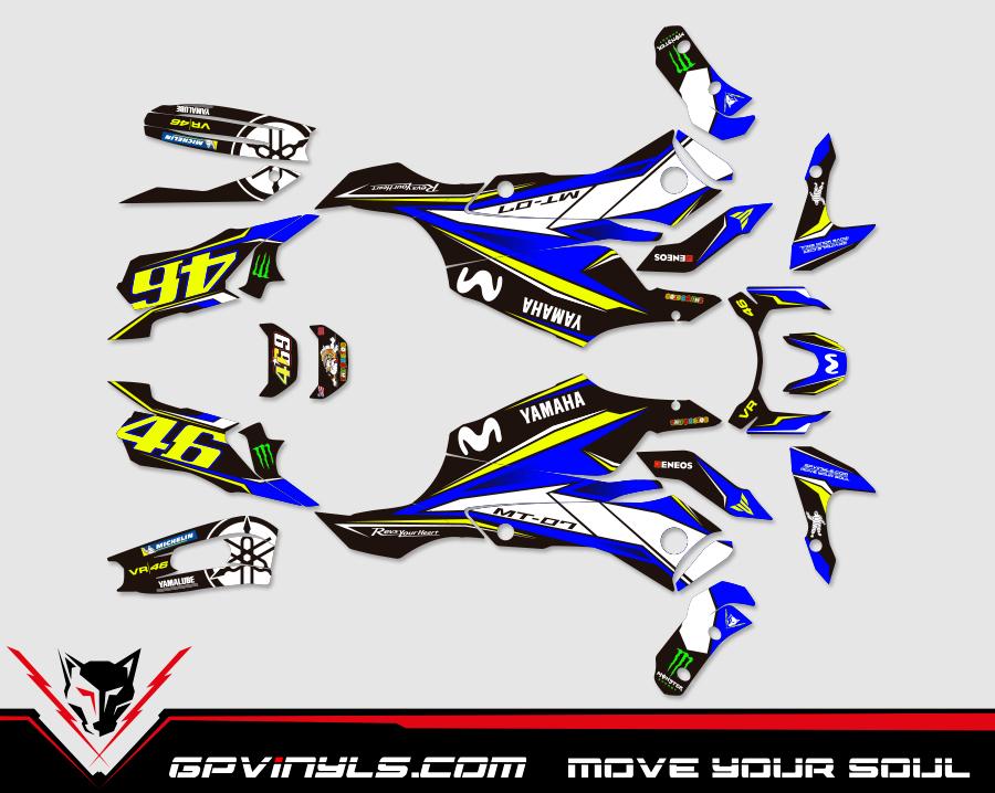 Kit Adhesivos Yamaha Mt 07 Quot Rossi Edition Quot Gpvinyls