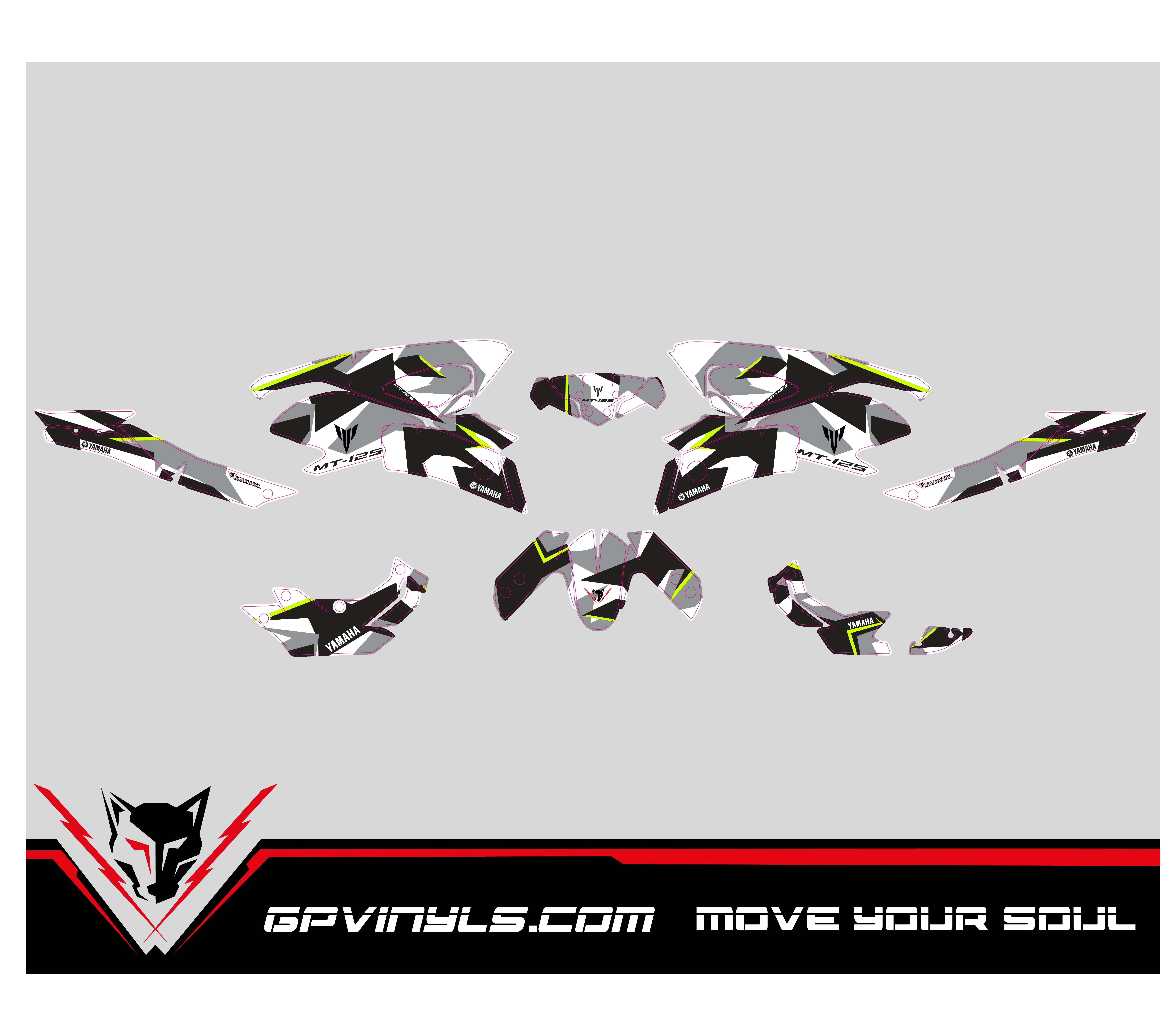 Kit Adhesivos Yamaha Mt 125 Gpvinyls