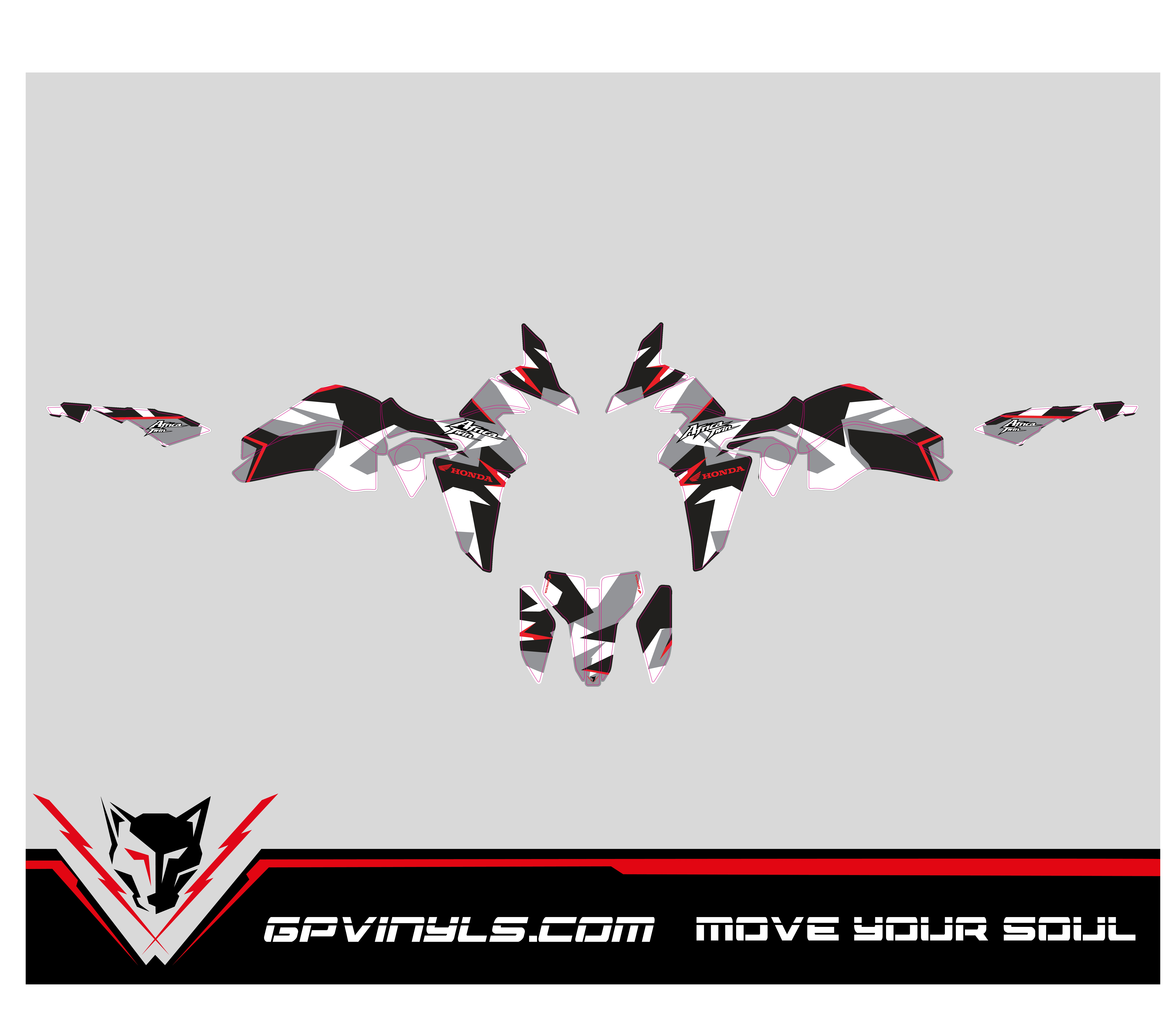 Graphic Decals Honda Africa Twin Gpvinyls