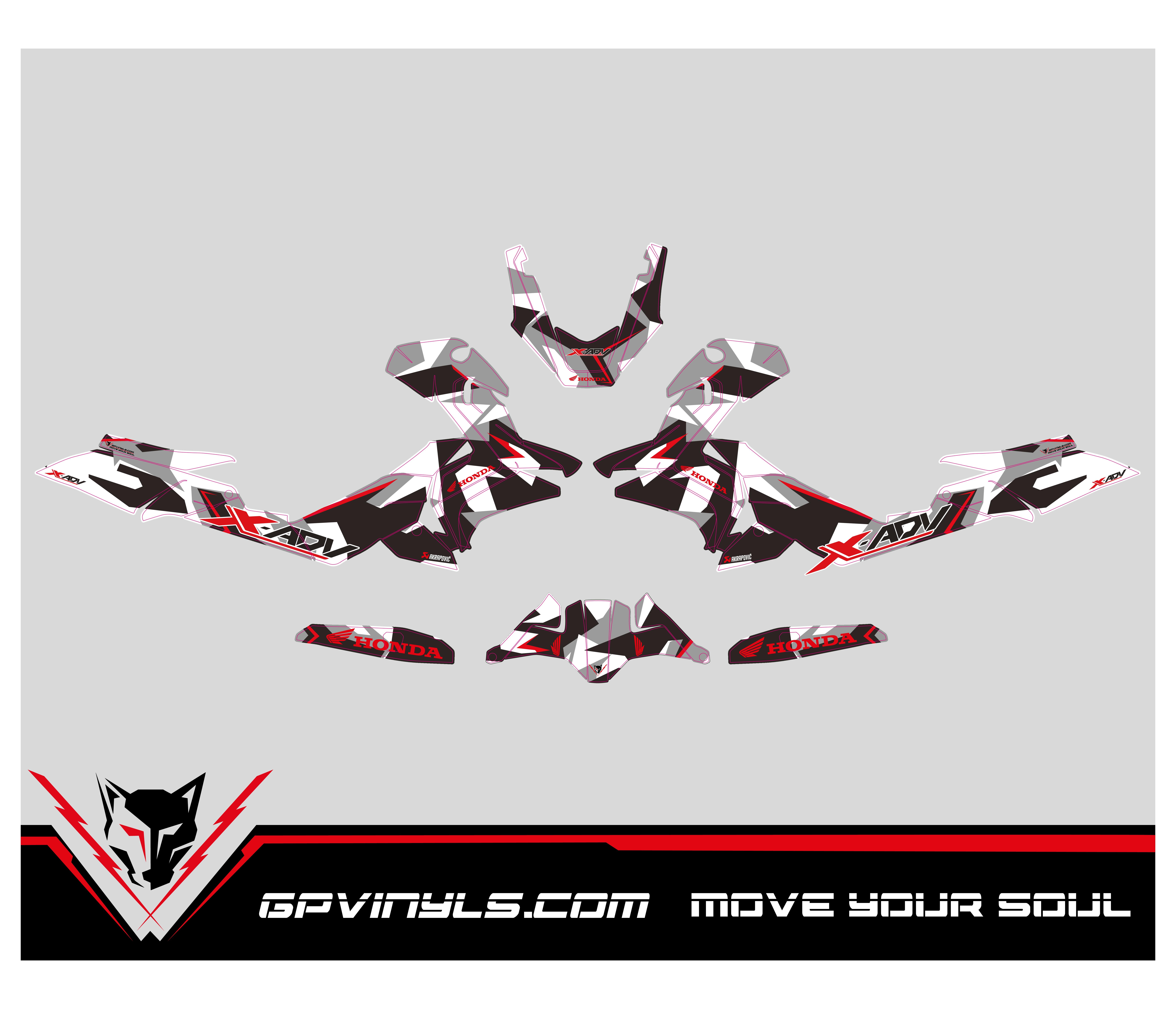 Graphic Decals Honda X Adv Gpvinyls