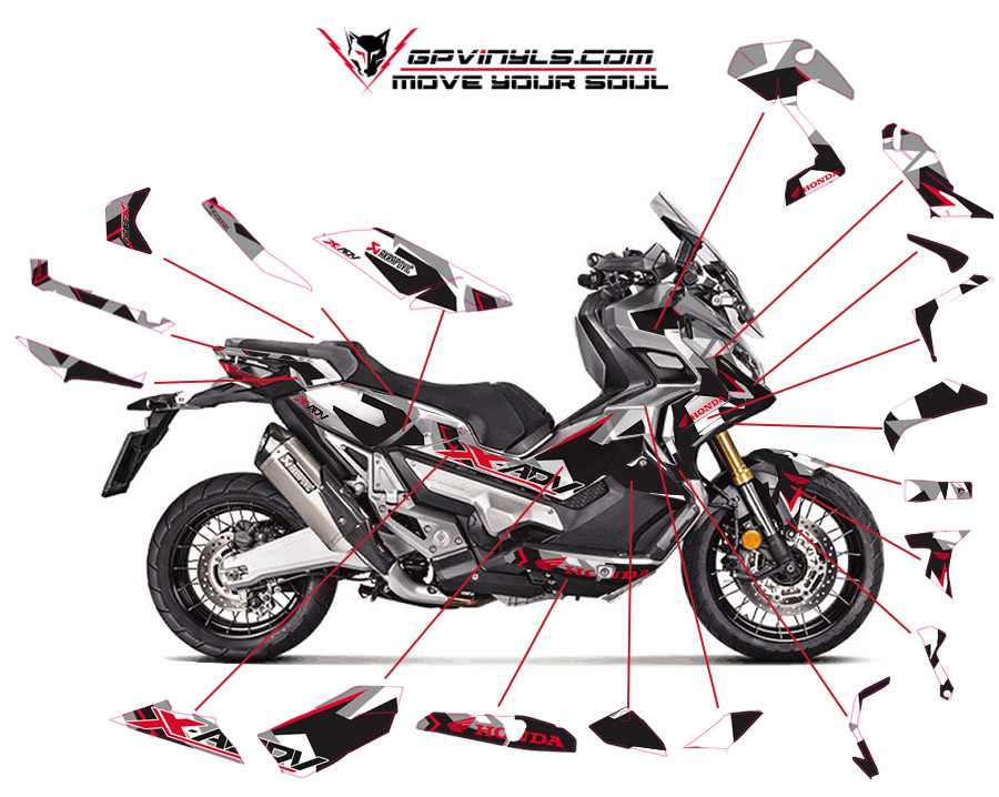 Kit Adhesivos Honda X Adv Gpvinyls
