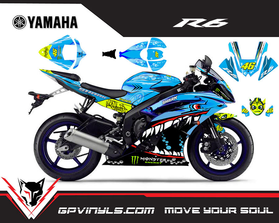 Graphic Decals Yamaha R6 Quot Shark Quot Gpvinyls