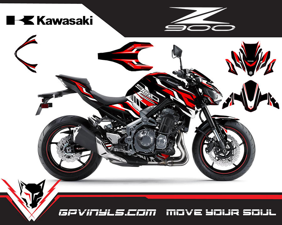 Graphic Decals Kawasaki Z900 Red Edition