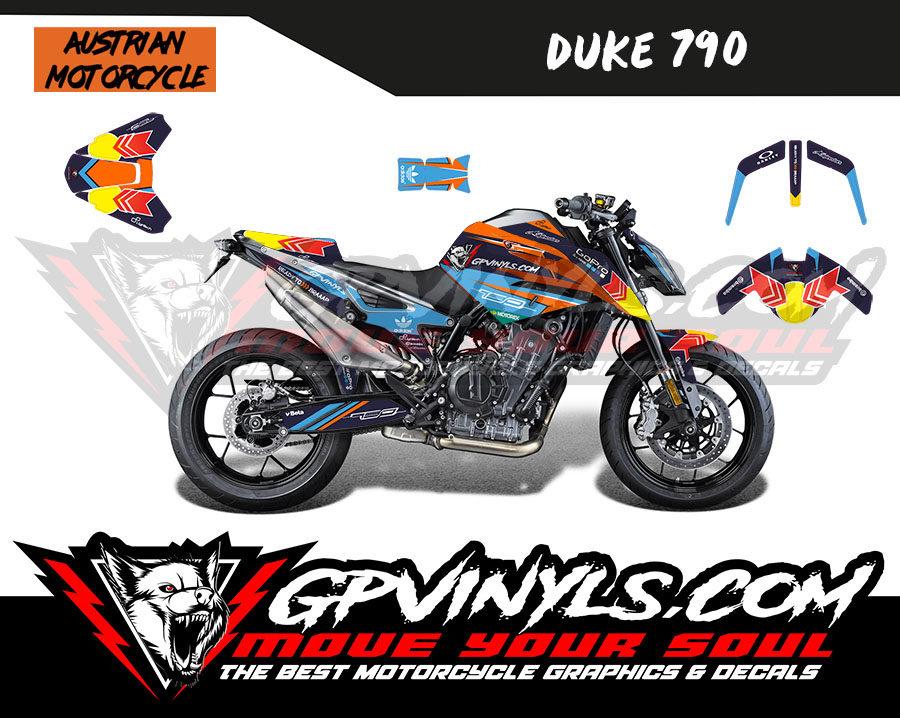 Graphic Decals Ktm Duke 790 Gpvinyls