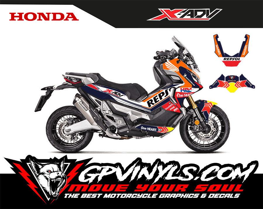 Graphic Decals Honda X Adv Quot Repsol Quot Gpvinyls