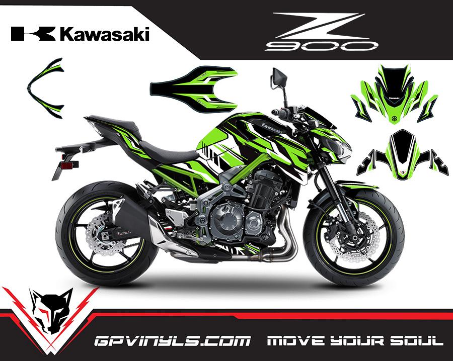 Graphic Decals Kawasaki Z900 Quot Green Quot Gpvinyls