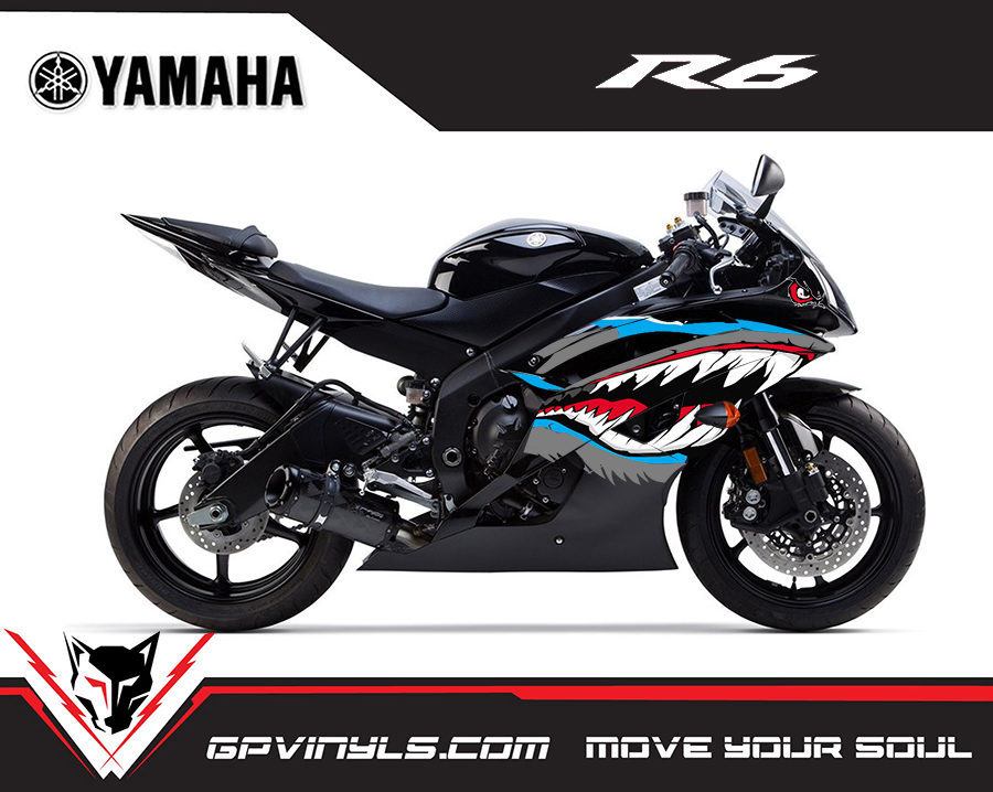Graphic Decals Yamaha R6 Quot Sharks Quot Gpvinyls