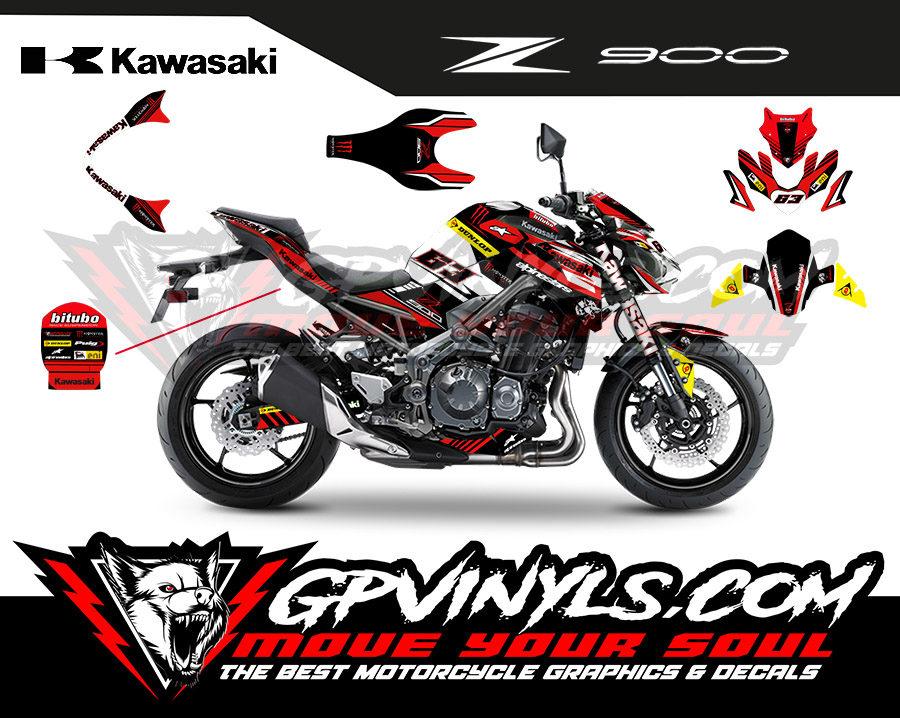 Graphic Kit Kawasaki Z900 Quot Zcup Quot Gpvinyls