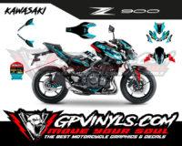 diseño kawasaki z900 azul