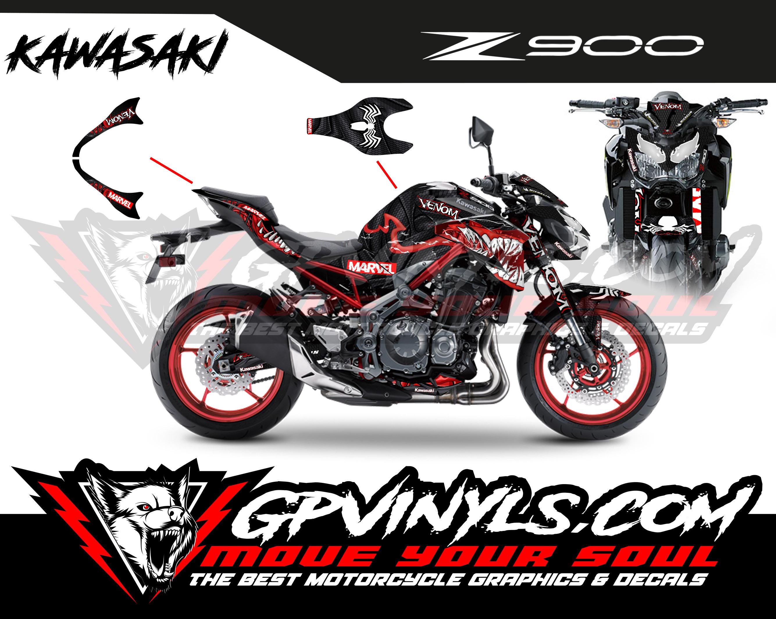 Graphic Kit Kawasaki Z900 Quot Venom Quot Gpvinyls