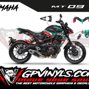 Graphic kit yamaha mt 09 petronas