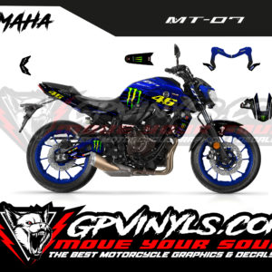 Decals stickers mt 07 rossi replica
