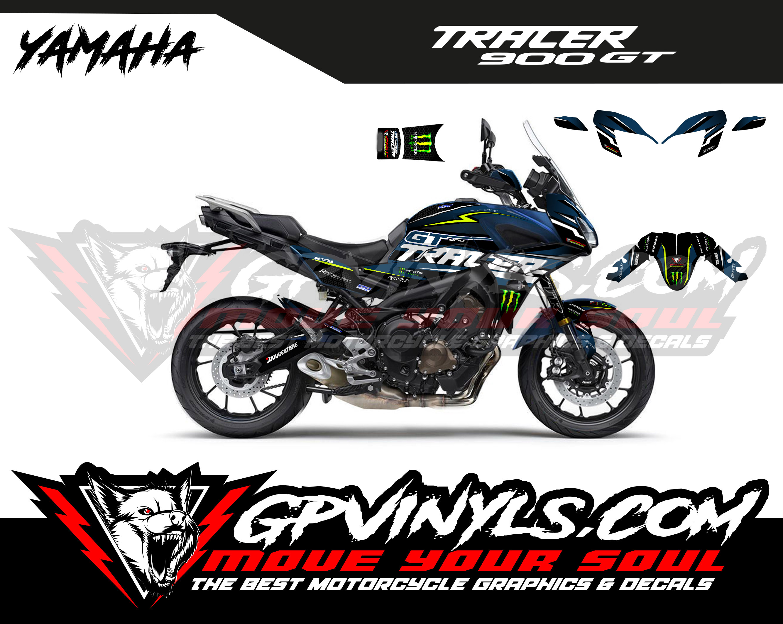 Graphic Kit Yamaha Tracer 900 Gt Gpvinyls