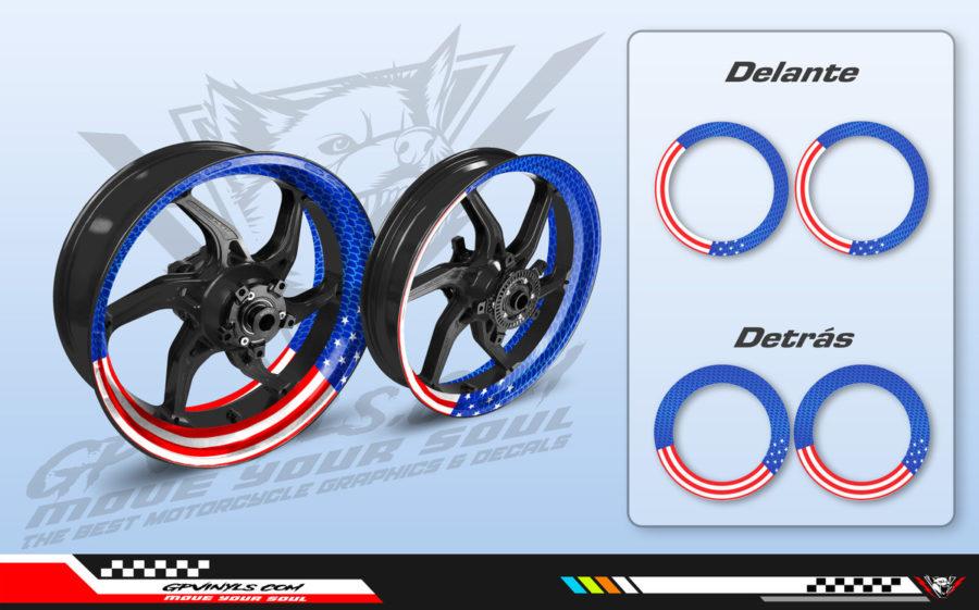 Wheel decals captain america