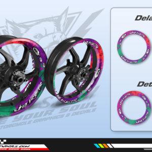 Wheel decals motorcycle joker