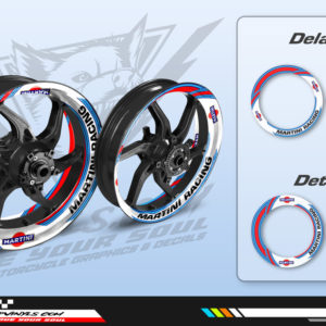 Wheel decals motorcycle martini