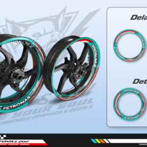 Wheel stickers motorcycle petronas